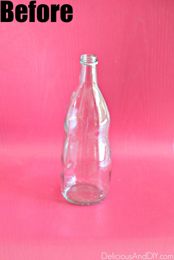 empty glass bottle for fall decor