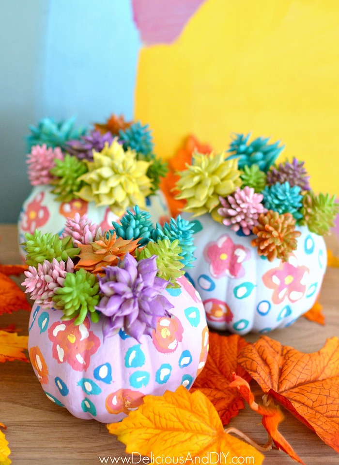 painted boho pumpkins