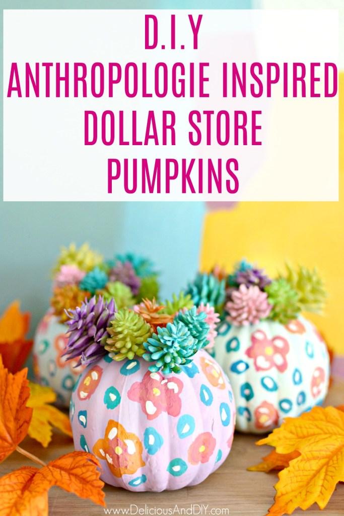 faux succulent pumpkins
