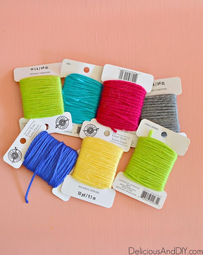 colorful string yarn