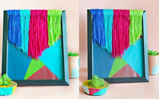thrifted yarn wall art