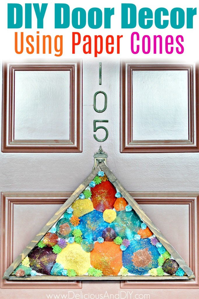 door decor made out of paper cones