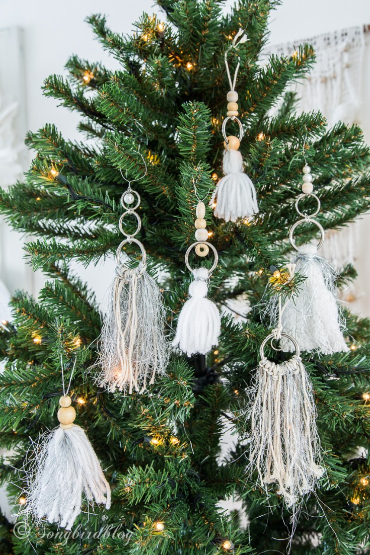 A Bohemian Christmas tree. Let's do a tassel boho ornaments DIY
