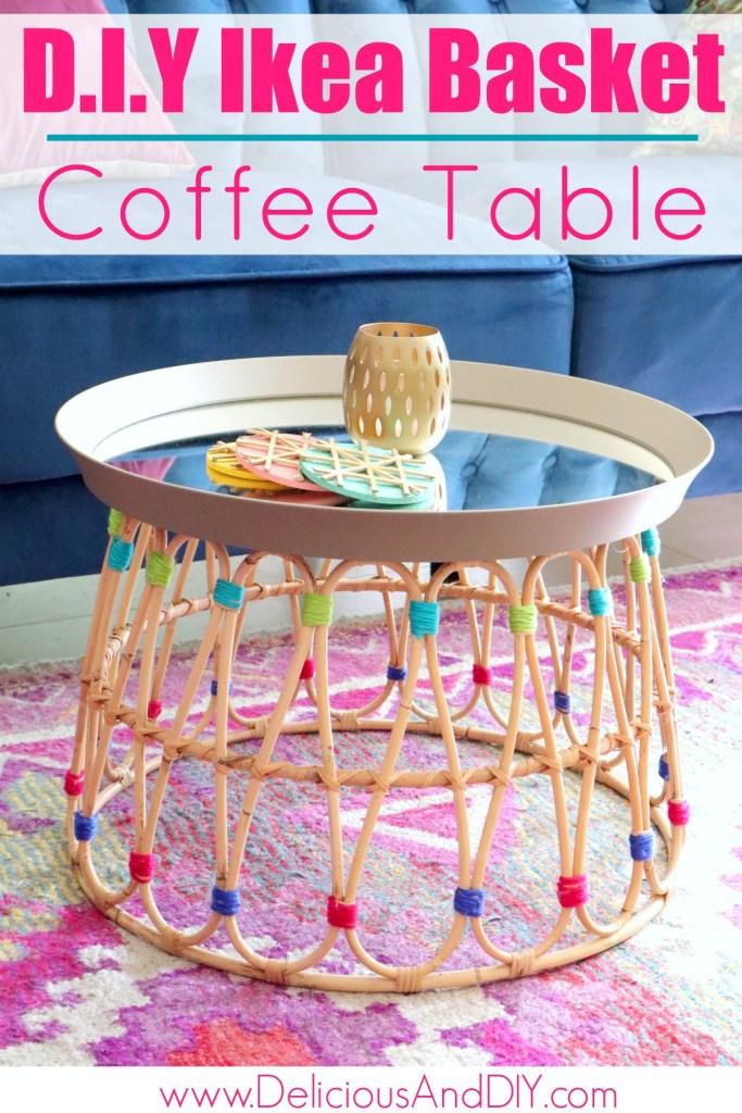 diy ikea coffee table hack
