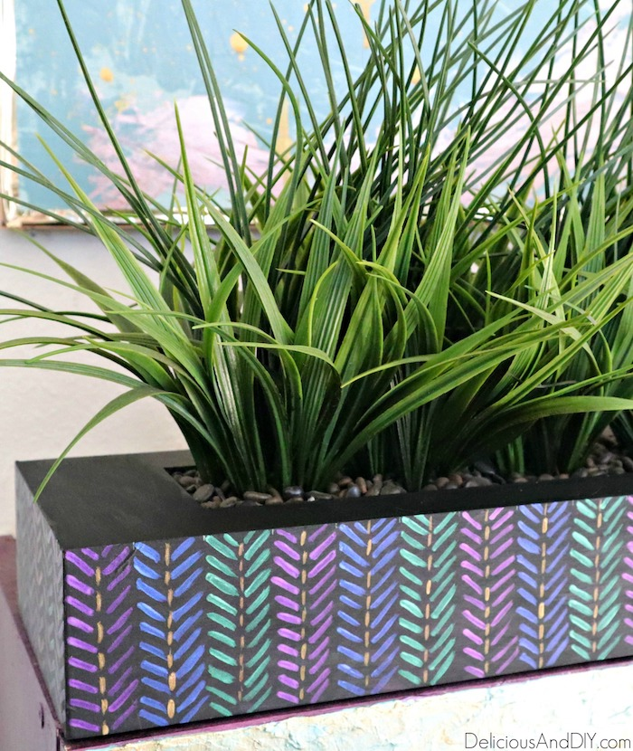 painted outdoor planter