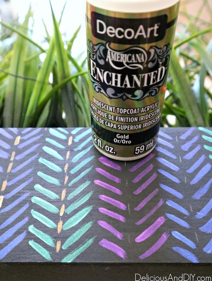 aztec inspired planter decor