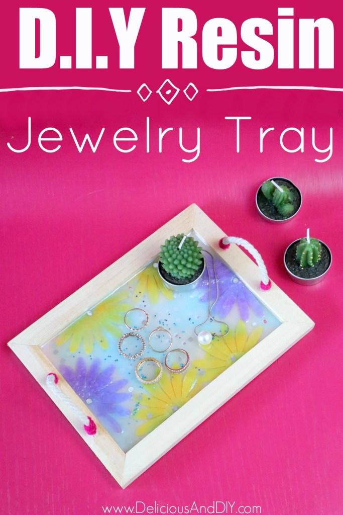 diy felt flower jewelry tray