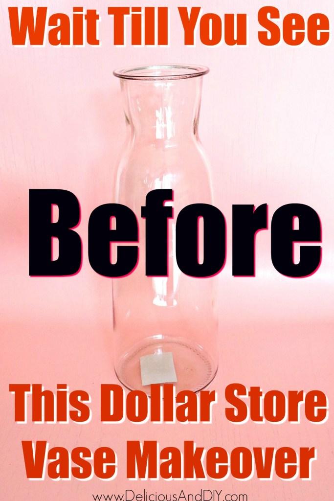 dollar store vase transformation