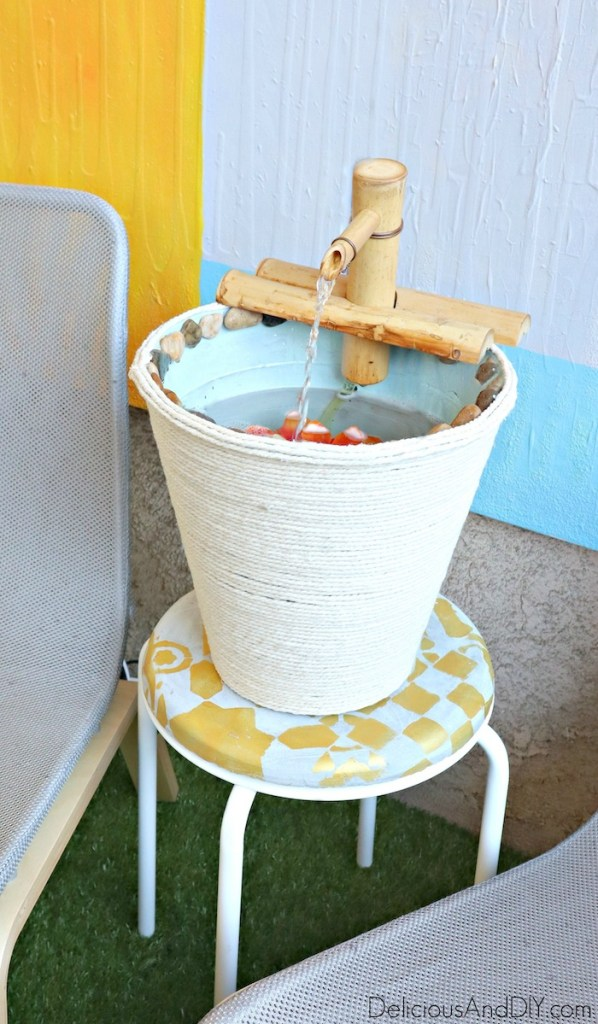 diy outdoor water fountain feature easy and quick
