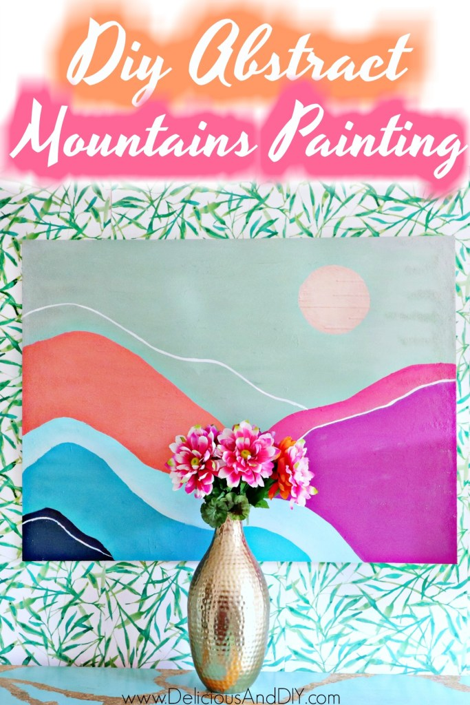 abstract mountains wall art