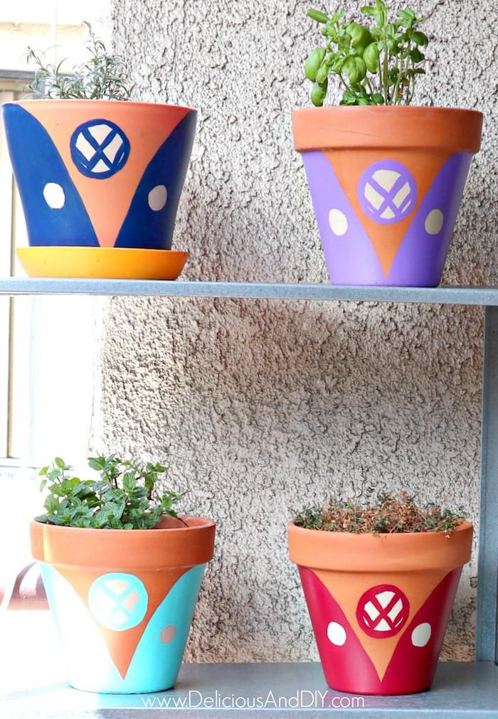 painted outdoor terracotta pots