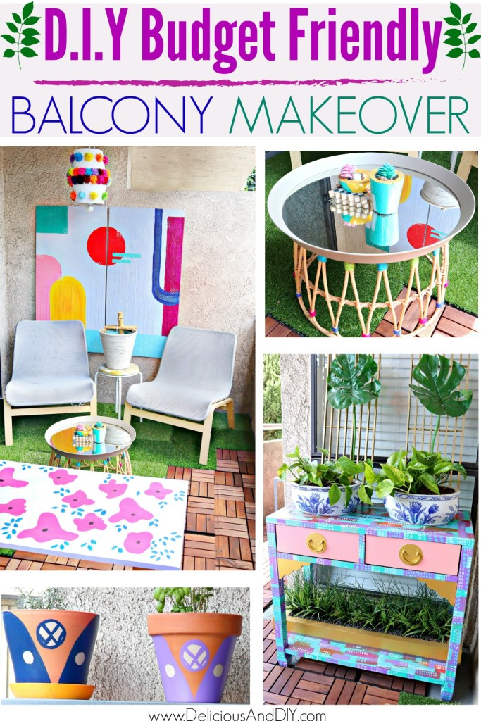 colorful balcony makeover