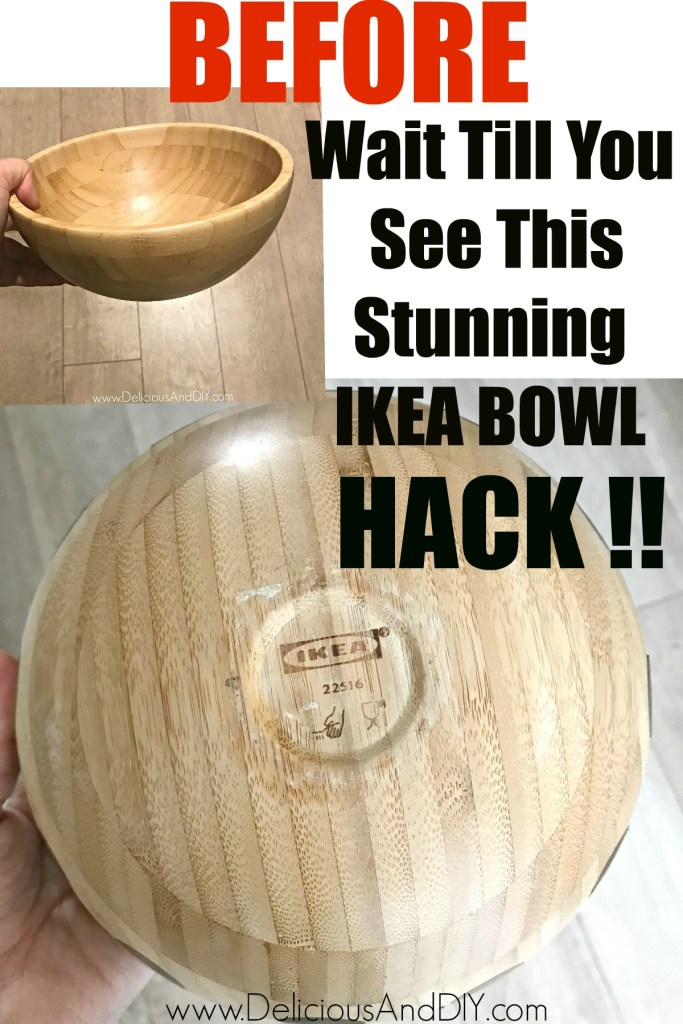 transform a wooden ikea bowl into a candle