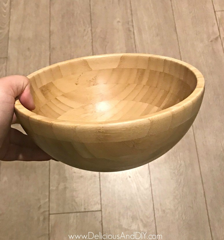 diy ikea wooden bowl