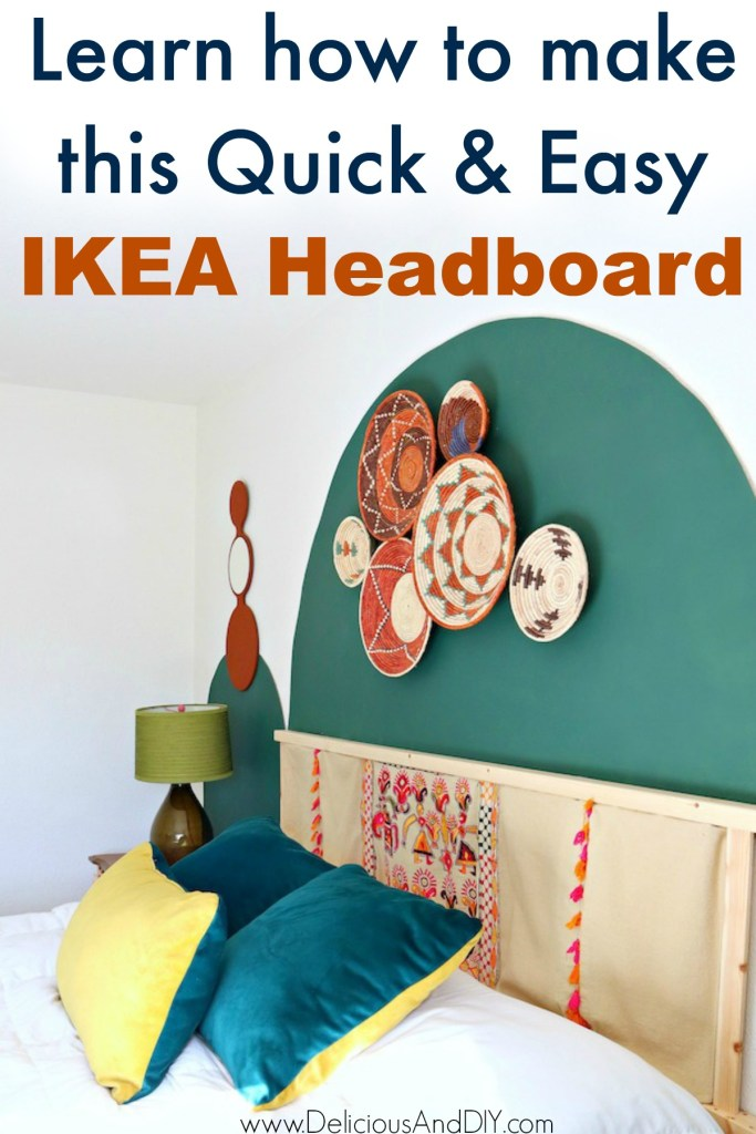 quick and easy IKEA IVAR Headboard Hack