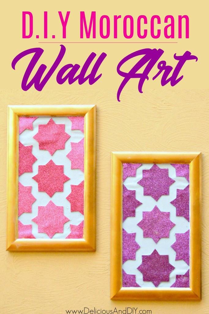 Pair of moroccan wall art hangings using cardstock