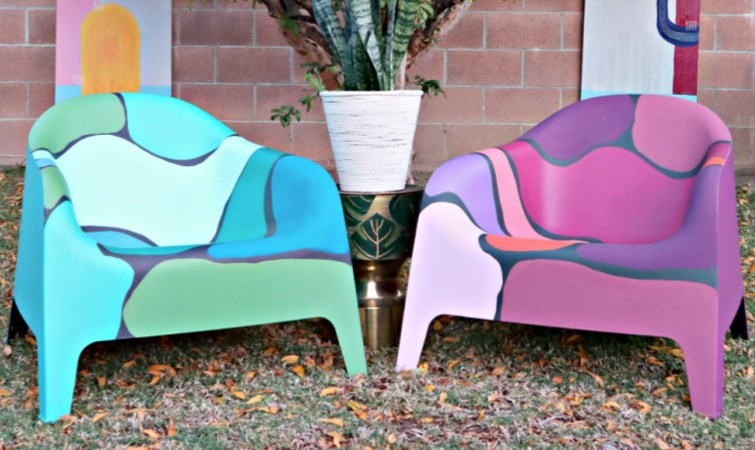 DIY Painted Outdoor Ikea Chairs