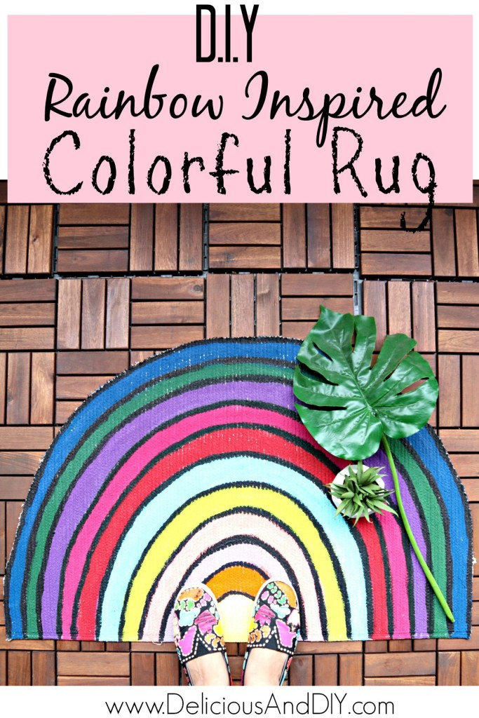 colorful rainbow rug