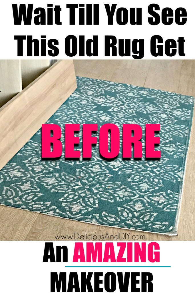 repurposed thrifted rug