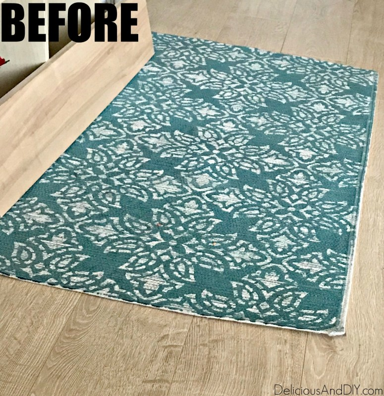 repurposed old thrifted rug