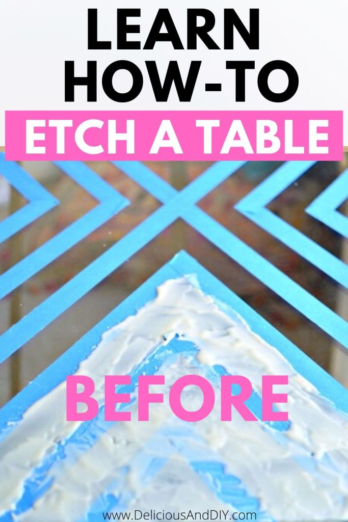 learn how to etch a glass table top