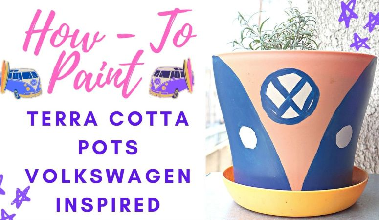 How To Paint Terra Cotta Pots – Volkswagen Inspired