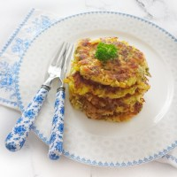 Rösti (Rosti) with Salmon & Vegetables