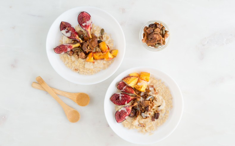 Creamy Millet Porridge with Roasted Figs