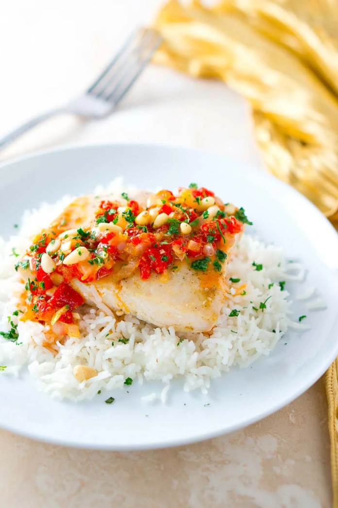 Mahi Mahi With Roasted Pepper Butter Sauce Delicious Meets Healthy
