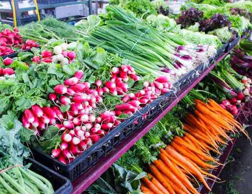 Buying local is important to us. We support our local co-op, farmer's markets and seafood market.