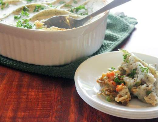 Vegetarian Ranch Shepherd's Pie (With Lentils!) is so delicious you won't even miss the meat!
