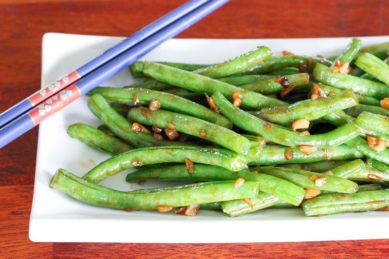 Easy asian style green beans