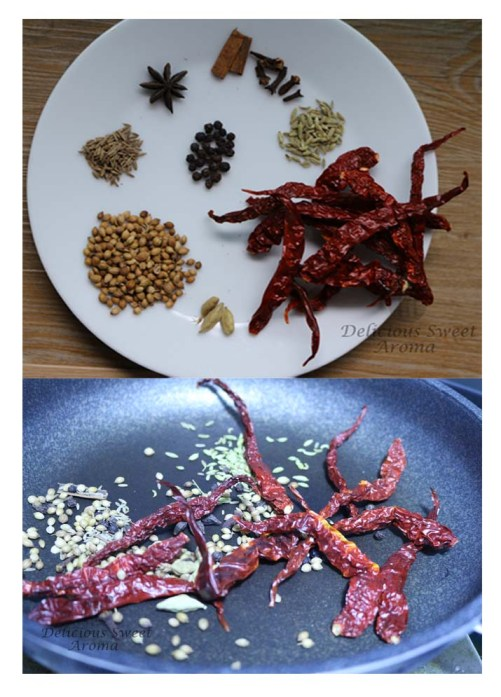 mutton spice paste for dry frying