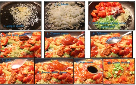 Ingredients for Sweet Chilli Prawn recipe | Delicious