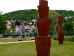 Skulpturen auf den Wertwiesen in Künzelsau