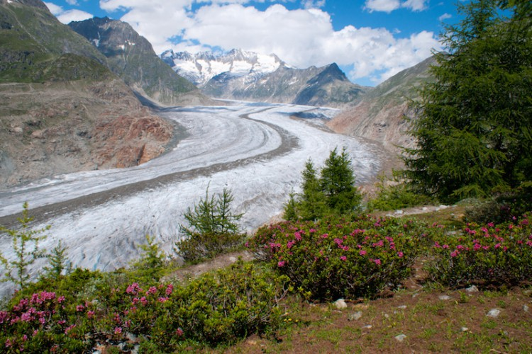 On Tour im Wallis (2): Allein am Aletschgletscher
