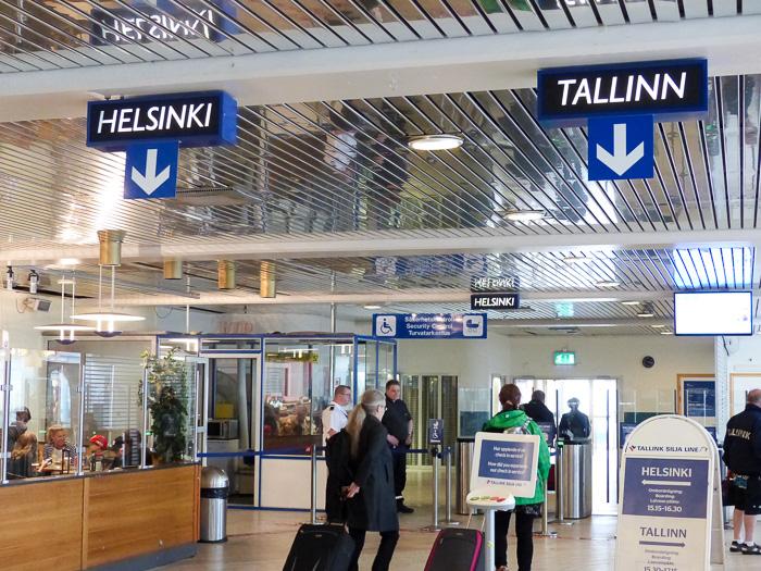 Terminal im Hafen Stockholm
