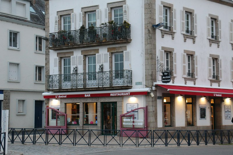 Das Restaurant Amiral in Concarneau