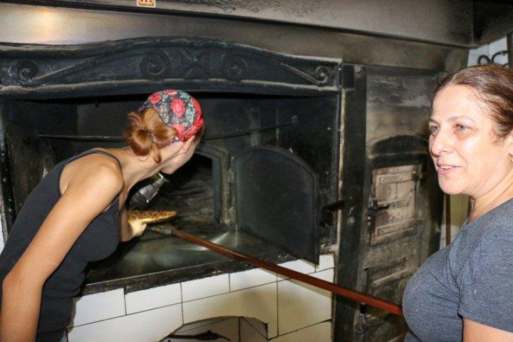 Der alte Ofen in Mekrens Bakery