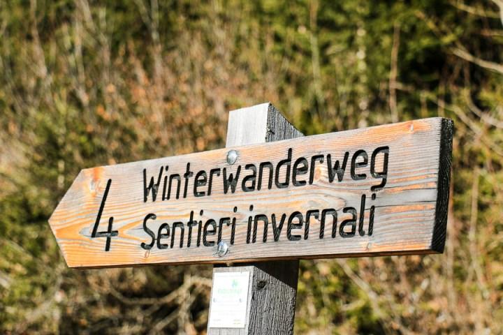 Winterwanderweg im Lazzacher Tal
