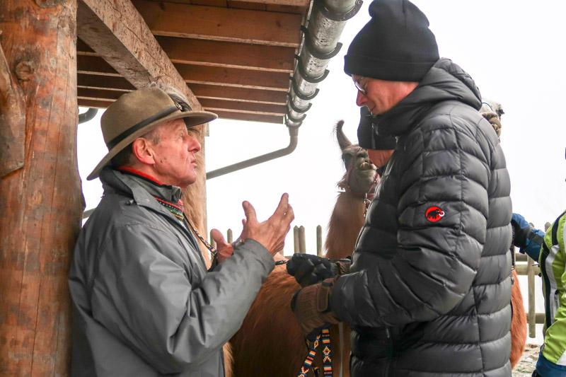 Llamero-Horst im Gespräch mit Andreas