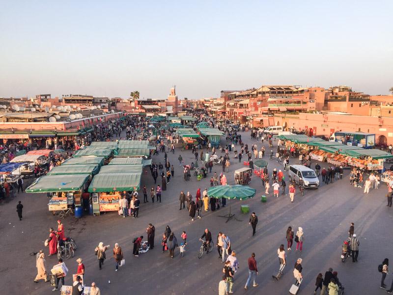 Djemaa el Fna, der Platz der Gaukler
