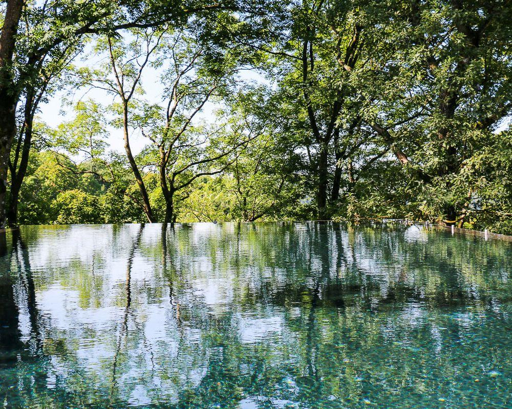 Infinity-Pool im Mawell Resort im Hohenlohe, Baden-Württemberg