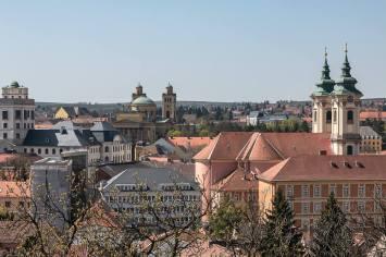 Blick von der Burg über Eger