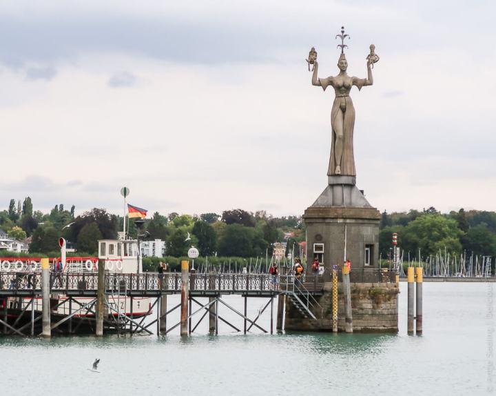Imperia im Hafen von Konstanz am Bodensee