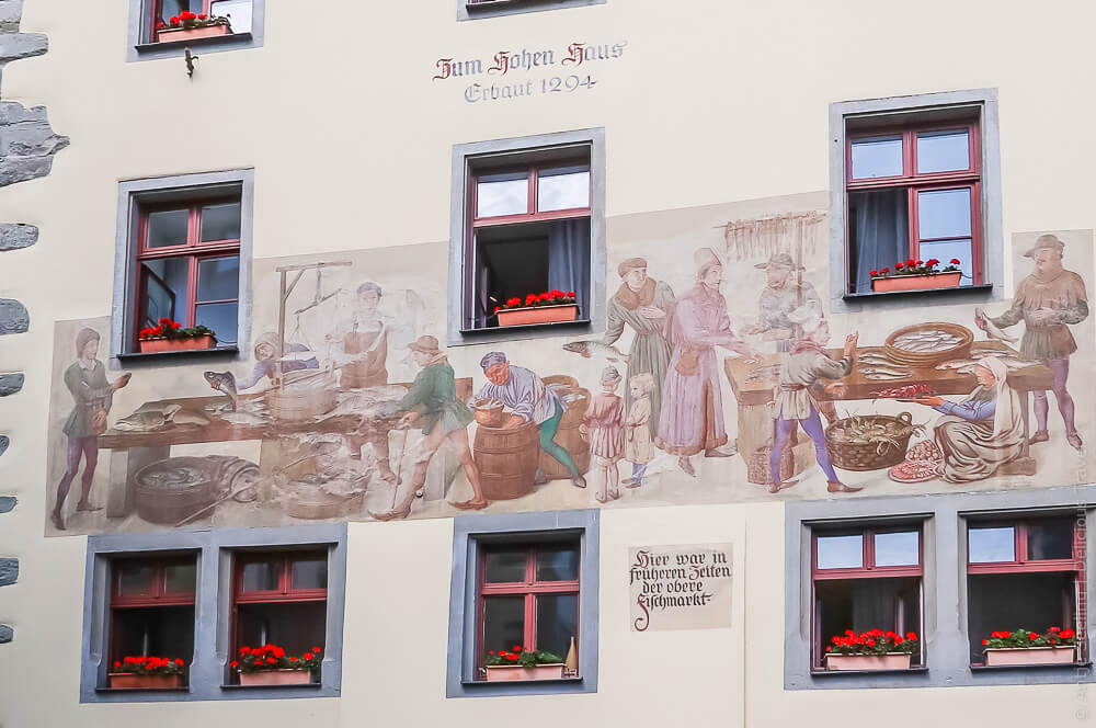 Häusermalerei in Konstanz