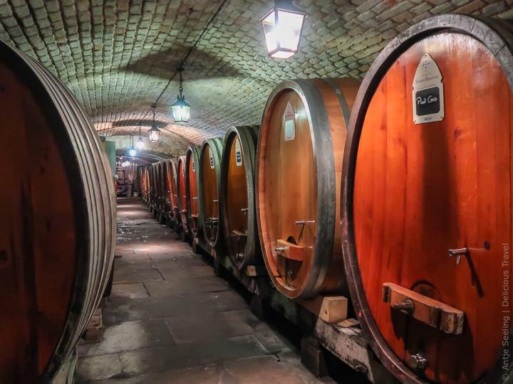 Historischer Weinkeller im Strasbourger Spital