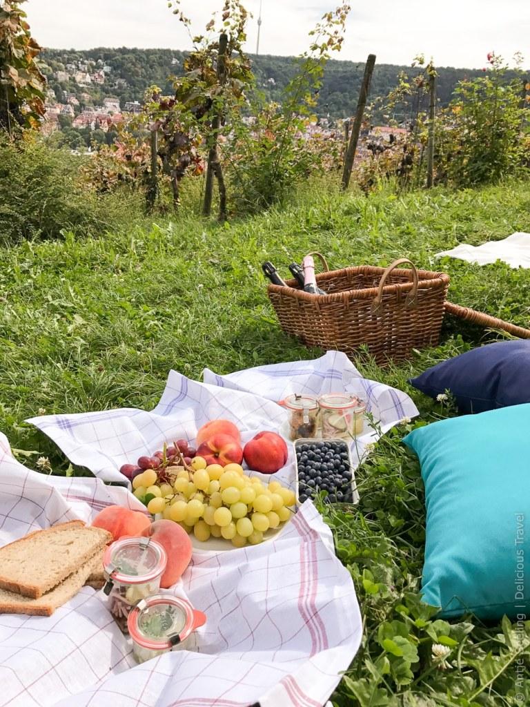 Picknick auf der Karlshöhe in Stuttgart