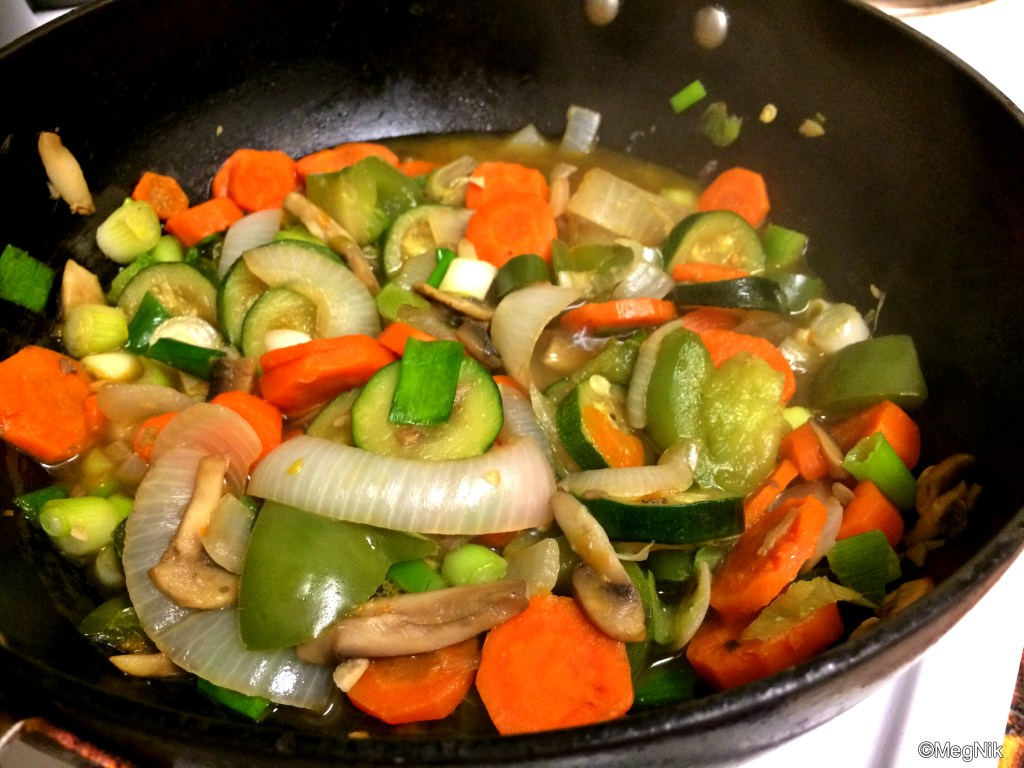 [Experiments in Kitchen #3] Honey Sriracha Tofu with Vegetables : Sauteed Vegetables