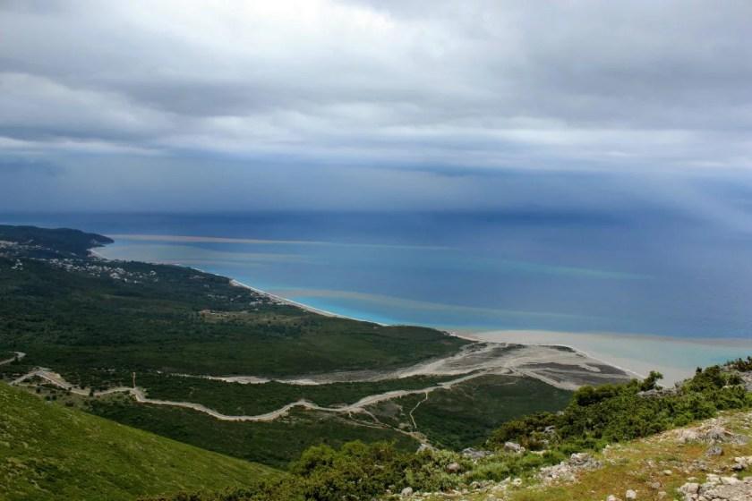 Llogara Pass in Albanien
